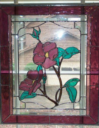 Mauve Floral Panel